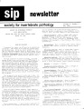 SIP Newsletter (Volume 17, Number 2)