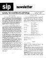 SIP Newsletter (Volume 18, Number 1)