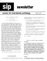 SIP Newsletter (Volume 18, Number 3)