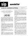 SIP Newsletter (Volume 18, Number 2)