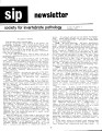 SIP Newsletter (Volume 19, Number 3)