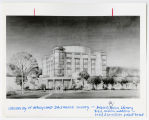 [Architect's drawing of the tower addition to the Albin O. Kuhn Library, UMBC]