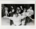 [Delta Phi Epsilon Sorority members at fraternity party, 1985]