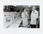 [Governor William Donald Shaefer touring  UMBC laboratory with Michael Hooker and Connie Murphy,...