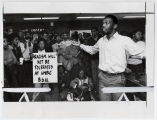 [UMBC Black Student Union members protesting, 1981]